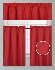 "3PC SET WINDOW SMALL CURTAIN FOAM LINED BLACKOUT PANELS IN 24"" OR 36"" LENGHT"