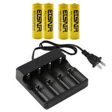 4X 14500 2800mAh 3.7v rechargeable Li-Ion Battery 1X Intelligent Smart Charger