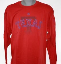 Majestic Texas Rangers Red Big & Tall Two Hit Long Sleeve T-shirt 4xlt