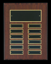 Employee of the Month Plaque 12 Plates FREE Engraving