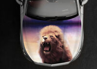 White Lion Car Hood Wrap Full Color Vinyl Sticker Decal Fit Any Car