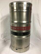 1/4 barrel empty beer keg stainless steel 7.75 gallon Sankey D style tap