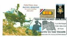 UH-1 HUEY HELICOPTER US ARMY Vietnam War Aircraft Photo Sc# 1802 Pictorial PM