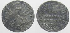 *TRIU* ROMA Pio VI  2 CARLINI 1795 Mistura