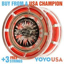 [WINTER SALE] YoYoFactory FAST/F.A.S.T. 201 Yo-Yo - Red + STRINGS