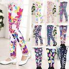 10 Styles Kids Girl Baby Leggings Flower Floral Printed Pants Trousers 1-12Y Hot
