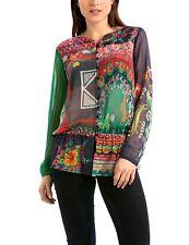 Desigual Katyana women's sheer blouse/top/shirt XL