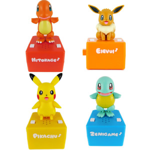 Pop'n step Pokemon Talking Dancing Toy 4 Figure Set Takara Tomy Pikachu Hitokage