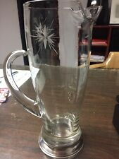 Vintage Wallace Sterling Silver W-401 Etched Cocktail Martini Pitcher 9.5� Tall