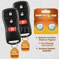 Replacement for Nissan Infiniti Keyless Entry Remote Car Key Fob 3b Pair