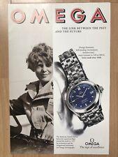 Omega Seamaster 1994 Advertisement Pub Ad Werbung