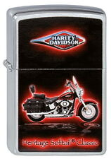 ZIPPO Accendino Harley Davidson Heritage Softail Classic Brushed chrome NUOVO OVP