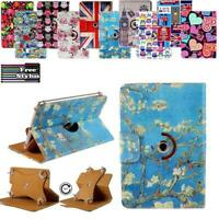 "For 7"" 8"" 10"" HP Tablet Folio Rotating Stand Wallet Leather Cover Case + Stylus"
