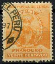 Peru 1896-1900 SG#344, 20c Orange, Pizarro Used #E1281