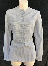 NOA NOA Beach Stripe Long Sleeve Cotton Shirt sz 34 / XS NWT Rrp $149.00