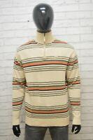 Maglione Uomo Kappa Taglia XL Maglia Lana Pullover a Righe Sweater Man Felpa