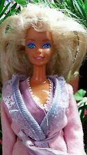 Barbie Doll 1966 blonde long choppy hair lingerie,robe,panties, tennis shoes Vtg