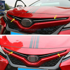 New Stainless Steel Chrome Front Grill Trim for TOYOTA Camry 2018