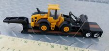 1/64 ertl custom farm toy volvo loader loaded lowboy trailer semi dcp s scale