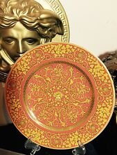 VERSACE MEDUSA GOLD FLORALIA  SERVICE PLATE ROSENTHAL LIMITED COLLECTIBLE SALE