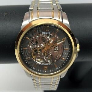 Relic Skeleton Automatic Two Tone Men's Watch Model ZR12109