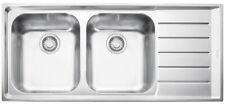 Franke NEX621RHD Neptune Double Bowl Right Hand Drainer Sink