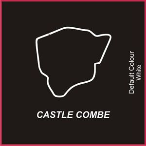 Castle Combe Circuit Decal, Track, Vinyl, Sticker, Graphics, Car, N2005