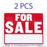 """2 PCS FOR SALE 9"""" X 12"""" Flexible PLASTIC SIGN Sale Home Business Car Auto House"""