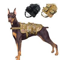 K9 Polizei Militär Hundegeschirr Zuggeschirr Taktisch Brustgeschirr Verstellbar