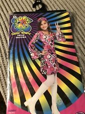 The Groovy 60's Kids Youth Costume Size Medium 8/10 Hippie Retro Dress