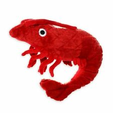 """New Dog Puppy Toy Large 12"""" Tough Mighty Ocean Prawn Red Level 7 VIP"""