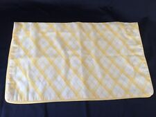Martha Stewart Pillowcase Sham Yellow White Stripe ONE Standard Size