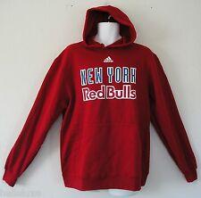 RARE~Adidas NEW YORK RED BULLS 9OZ FLEECE Hoody jersey soccer Sweat shirt~Mens M