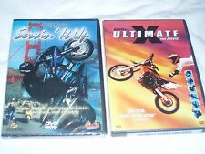 Lot Of 2 DVD Movies Servin' It Up Cycle Stunts & Ultimate X New Sealed