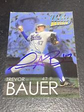 RARE 2011 Trevor Bauer Autographed Auto UCLA Bruins Team Issued Rookie RC Card