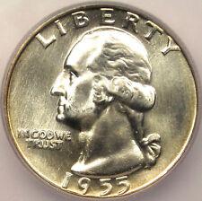 1955 Washington Quarter 25C ICG MS67 - $800 Price Guide Value in MS67