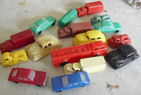Large Lot of Vintage 1960s Plastic Cars and Trucks LOOK