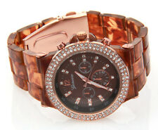 Women's Glitz Tortoise Style Plastic Band Watch