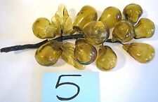 Amber Brown Lg Grape Cluster Glass Hand Blown Vintage Mid Century Modernism Y5
