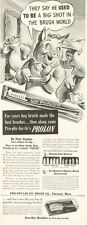 1942 Pro-Phy-Lac-Tic PRINT AD Toothbrush and Jewelite Brushes Fun Vintage Decor
