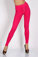 Full Length High Waist Leggings Genuine Cotton and Lycra All Sizes & Color LWP UK Size 8 Pink