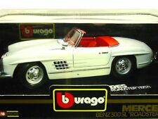 "BURAGO-MERCEDES BENZ 300 SL ""ROADSTER"" (1957)-SC 1/18-ORIG BURAGO MADE IN ITALY"