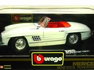 "BURAGO-MERCEDES BENZ 300 SL ""ROADSTER"" (1957)-SC 1/18-ORIG BURAGO MADE IN ITALY"