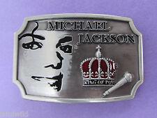 Michael Jackson King of Pop Belt Buckle
