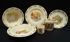 Vintage Royal Doulton Bunnykins 6 Pieces