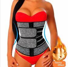 Sports belt waist corset sauna support with springs fitness slimming zipper gym