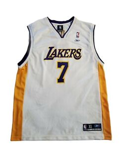Vintage Reebok NBA Los Angeles Lakers Lamar Odom #7 Jersey White Size XL