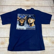 Jay-Z Eminem 2010 Home & Home Tour Yankee Stadium Blue Concert Shirt Xl Rap Tee