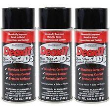 CAIG D5S-6 DeoxIT Contact Cleaner - Deoxidizer Spray (5 oz) X 3 (3 - 5oz Cans)