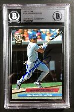 IVAN RODRIGUEZ AUTOGRAPHED AUTO 1992 ULTRA RC ROOKIE CARD #139 BECKETT SLABBED